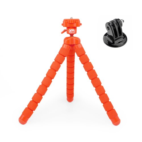 XSORIES BIG BENDY orange + GoPro Adapter
