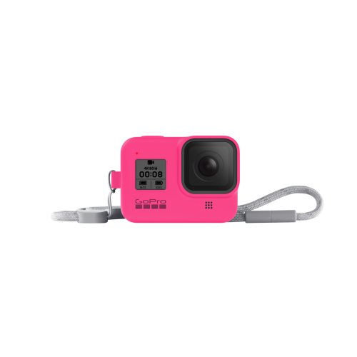 GoPro Sleeve + Lanyard (HERO8 Black) Electric Pink