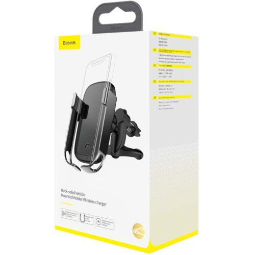 Rock-solid Elec Hold Wireless Chargr Blk